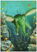 Diving Elefant by FirstM