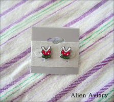 Piranha Plant Earrings by alienaviary