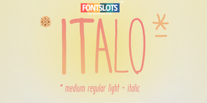 ITALO Font by fontslots