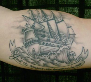 Galleon tattoo by hellcatmolly