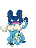 Froakie And Frogadier by LeniProduction