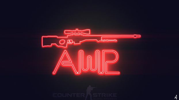 CS:GO AWP WALLPAPER NEON by TwilightliciousBR