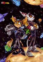 Ratchet and Alister - colab by KeyshaKitty