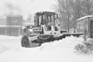 2015 February Snow Storm, BullDozing the Snow 3 by Miss-Tbones