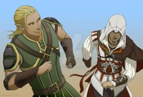 Zevran and Ezio by KyoukiSumeragi