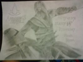 assassins creed b-day drawing by horrorpictures