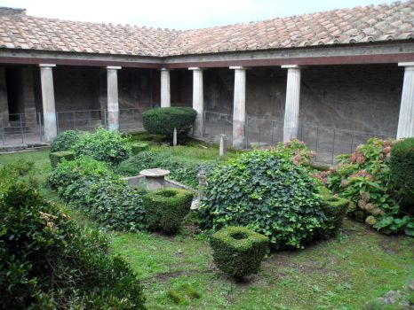 Pompeii: Peristyle and Garden by J-N-K
