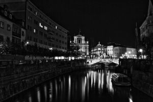 Ljubljana in the evening by luka567