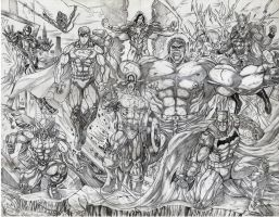 SuperHeroes by jey2dworld