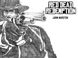 John Marston of Red Dead Redemption by Sonofbaldo