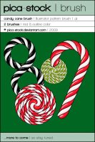 Candy Cane Brush by pica-stock