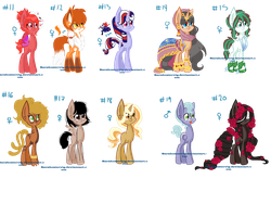 My ponies made with base 2 by Sarahostervig