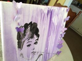Audrey Hepburn and Butterflies by MoobyWoo