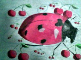 Cherry Bug by paintmeaperfectworld