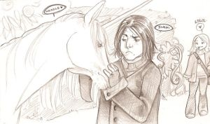 snape loves unicorns? by yurchan