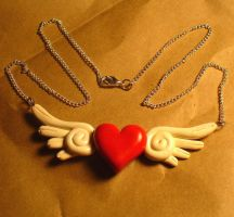 Heart's Alight Necklace by crazy-fae