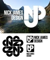Nick James Design Logo + Variations + Brand Device by tmgtheperson