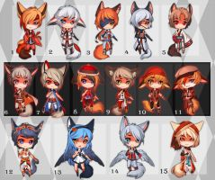 Kemonomimi Chibi (SET PRICE) - CLOSED by Melixion