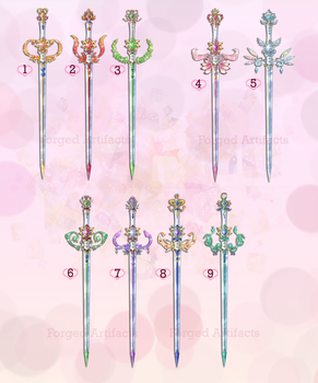 Sailor Moon Weapon Adoption 27 CLOSED by Forged-Artifacts
