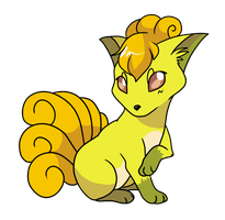 Shiny Vulpix by noewel