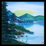 Mountain Lake View by Clu-art
