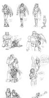 Transformers Sketchdump by Kenthayle