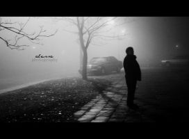 man in the fog by alessa93