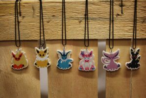 Eeveelution Necklaces by zuccichini