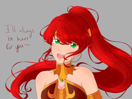 Pyrrha Nikos: Remembrance by Kitsune-Ryu-Neko