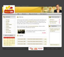 Intranet Layout by dellustrations