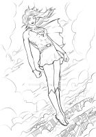 Completed Supergirl Inks by Plugin848y