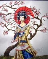 geisha full color Done by giopunkart