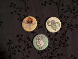 Buttons: FFXII monsters by Quatrina