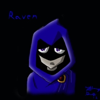 Raven - w/ speed paint by Violet-the-Siberian