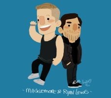 macklemore and Ryan Lewis by knightJJ