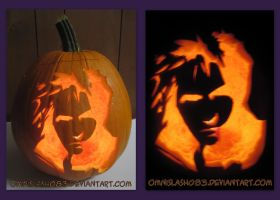 Cloud Strife Pumpkin by omnislash083