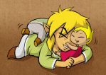 Link and Kids - Roughhousing by BeagleTsuin