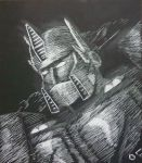 Optimus Scratchboard by EricGroff