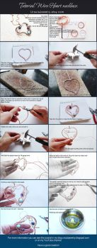 Wire wrapped Tutorial Heart necklace by UrsulaJewelry