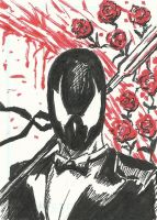 Grendel Sketch Card by Graymalkin2112