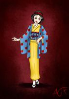 Kimono Disney Princesses : Snow White by Atomicfrog83