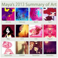 2013 summary of art by mayakern
