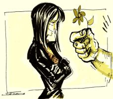 Robin a flower and Franky hand by Ellinor87