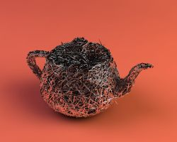 3D - Pflow Spline Teapot by nnq2603