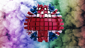3D Abstract Union Jack Wallpaper! by ryanr08