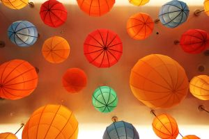 Colorful Celling Lamps by SimonArty