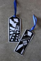 doctor who papercut bookmarks by ChippoTheChipmonk