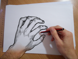 Drawing My Left Hand by HocusPocusFocus