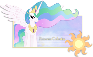 Firma de Princess Celestia by Darkselia