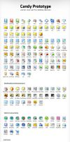 Candy Prototype Icons by Flahorn